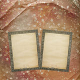 Ancient used background in scrapbooking style with old ar Royalty Free Stock Images