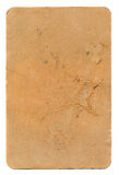 Ancient used brown playing card paper background Royalty Free Stock Images