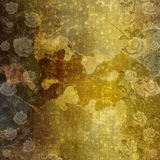 Ancient used paper in scrapbooking style with roses Stock Photo