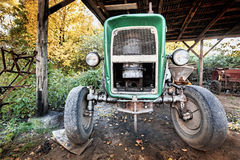 Ancient, used tractor Royalty Free Stock Photo