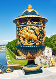 Ancient vase in Peterhof, Russia Royalty Free Stock Photography