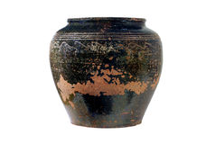 Ancient vase on a white background Stock Images