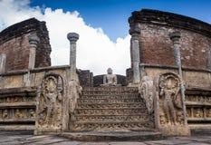 Ancient Vatadage Buddhist stupa in Pollonnaruwa Royalty Free Stock Photography