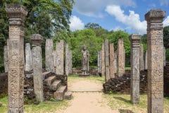 Ancient Vatadage Buddhist stupa in Pollonnaruwa Stock Photos