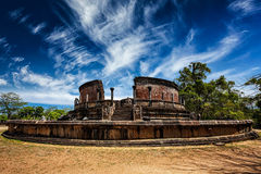 Ancient Vatadage Buddhist stupa, Sri Lanka Stock Image