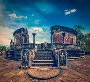 Ancient Vatadage (Buddhist stupa) Royalty Free Stock Photography