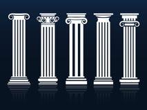 Ancient vector columns set Royalty Free Stock Photos