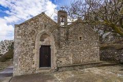 Ancient Venetian church at the Venetian village of Voila. Crete Greece stock photos