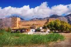 The ancient Venetian fortress Frangokastello on Crete island Royalty Free Stock Photo