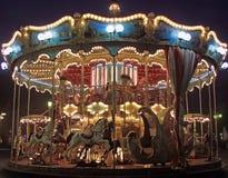 Ancient venetian merry-go-round stock photo