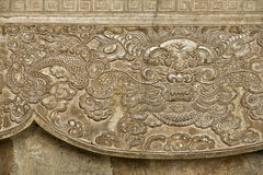 Ancient Vietnamese Carvings Stock Photos