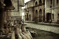 Ancient view of the buildings Royalty Free Stock Photo