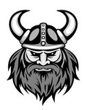Ancient viking. Head for mascot. Vector illustration Royalty Free Stock Photos
