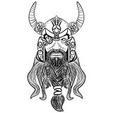 Ancient viking head logo for mascot design Royalty Free Stock Photo