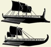 The Ancient Viking Ship Vector 01. The Ancient Viking Ship Isolated Illustration Vector royalty free illustration