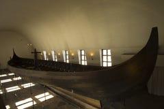 Ancient Vikings ships stock photo