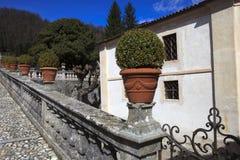 The ancient Villa Della Porta Bozzolo, Casalzuigno, Varese, Lombardy, Italy stock image