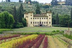 Ancient villa near Pistoia (Tuscany) royalty free stock images