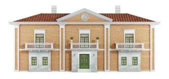 Ancient villa with old brick walls Royalty Free Stock Photo