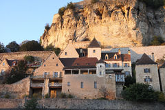 Ancient village of Beynac, dordogne, France Stock Photos