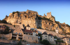 Ancient village of Beynac, dordogne, France Stock Photography