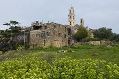 The ancient village of Bussana Vecchia Stock Image