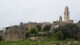 The ancient village of Bussana Vecchia Royalty Free Stock Photos