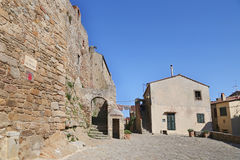 Ancient Village Castle in the island of Giglio, Tuscany archipelago stock images