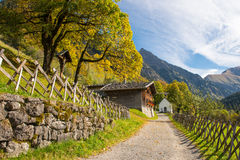 Ancient village Gerstruben in the mountains Royalty Free Stock Image