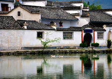 Ancient Village hongcun china. Hong Village (Hongcun) located in huangshan city, Anhui Province, China. it's a UNESCO World Heritage Site Royalty Free Stock Photo