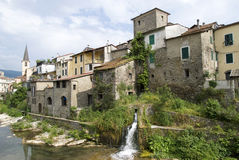 Ancient village in Liguria region of Italy stock photography
