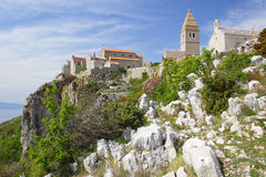 Ancient village of Lubenice on Cres Stock Image