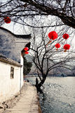Ancient village. The Ancient village named Hong Village which bulit in 1130s in China Stock Photos