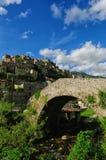 Ancient village of Prata Sannita. Old medieval castle in Sunni prata, a small town in Campania Stock Image