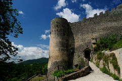 Ancient village of Prata Sannita. Old medieval castle in Sunni prata, a small town in Campania Stock Photography