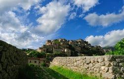 Ancient village of Prata Sannita. Old medieval castle in Sunni prata, a small town in Campania Royalty Free Stock Photos