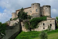 Ancient village of Prata Sannita. Old medieval castle in Sunni prata, a small town in Campania Stock Photo