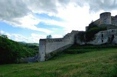 Ancient village of Prata Sannita. Old medieval castle in Sunni prata, a small town in Campania Royalty Free Stock Image