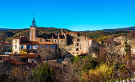 Ancient village in the Pyrenees-Orientales Stock Photos