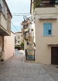 The ancient village of San Felice Circeo in central Italy. Typical medieval architecture in the historic center of the village San Felice Circeo. Lazio Region stock photos