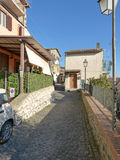The ancient village of Scacciati in Palestrina - Rome Stock Photo