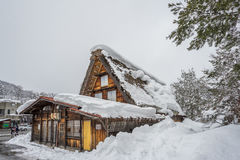 An ancient village in Shirakawago in Japan is a UNESCO World Heritage site Royalty Free Stock Photo