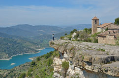 Ancient village Siurana on the mountain top Royalty Free Stock Photography