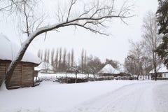 Ancient Village in Winter Stock Photos