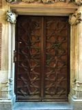 Ancient door, time, history and romantic details. Ancient vintage door, history, time, romantic details, art, design and architecture, beauty and mystery royalty free stock photography