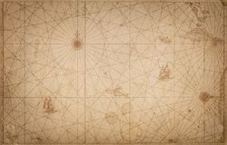 Free Ancient Vintage Map Background. Retro Style. Science, Education, Travel, Vintage Background. History And Geography Team. Stock Photo - 121341220