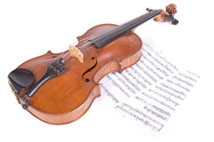 Ancient viola. On a white background Royalty Free Stock Photo