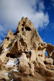 Ancient volcanic city. Cappadocia, ancient city craved out of volcanic rock in Anatolia, Turkey Stock Photos