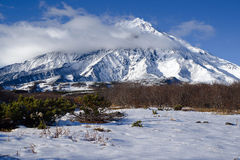 Ancient volcanoes of Kamchatka Royalty Free Stock Images