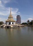 Contrast in Thai architecture Royalty Free Stock Image